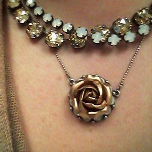 Sabika Devoted Rose Necklace, NEW